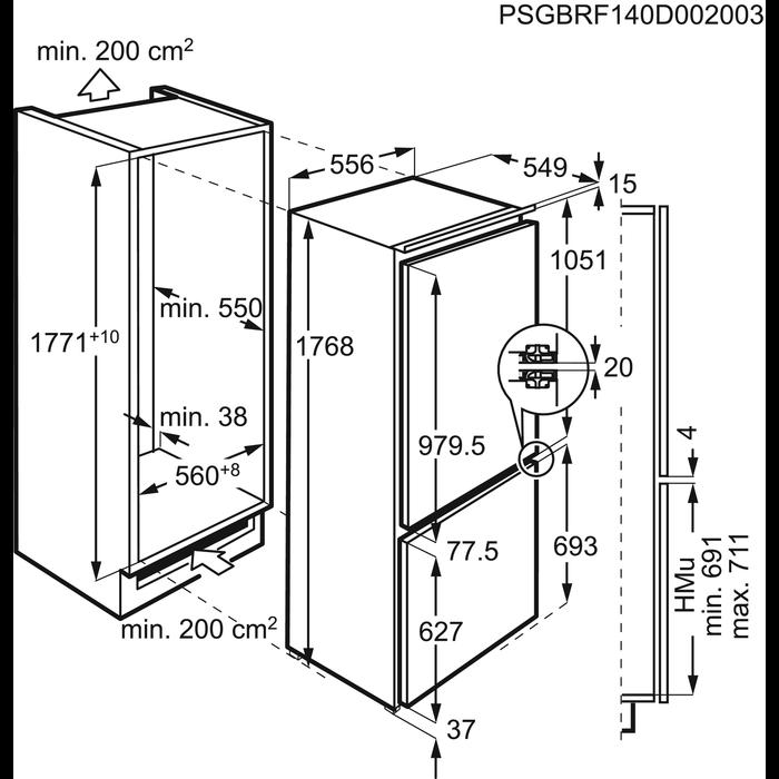 AEG - Frigocongelatore da incasso - SCS61800FF
