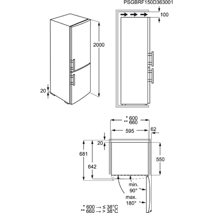 AEG - Jääkaappipakastin - Vapaasti sijoitettava - S83920CMXF