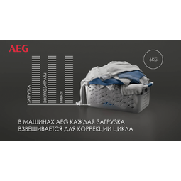 AEG - Стиральная машина с фронтальной загрузкой - L6FBI48S