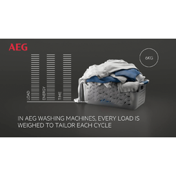 AEG - Frontmatad tvättmaskin - L9FEP967C