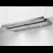 Flachschirmhaube 90 cm, Bedienung über Schiebeschalter, 3 Leistungsstufen, LED Beleuchtung, 4 Aluminium-Fettfilter, automatisches Ein-&Ausschalten bei Betätigung der beweglichen Filterfläche