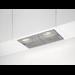 Exaustor de integrar, 3 níveis de potência, Slide Control, 1 filtros metálicos laváveis, 2 lâmpadas 28 W, Max: 250 m3/h, ruído: 61 dB(A) (máximo), evacuação exterior ou possibilidade de recirculação de ar, 52 cm, Cinza
