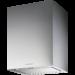 Campana de Isla de iluminación cenital halógena con 4 lámparas, Decibelios: 41 dB(A), INOX