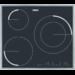 Placa de inducción con 3 zonas «Power», zona doble de 28cm a 3700W, Marco INOX, «Easy-Fix»