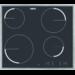 Placa de aquecimento por incandescência rápida, 4 focos hilight, moldura inox, Touch Control, Desconexão automática, Segurança para crianças, Instalação Drop&Go, 57,6 cm