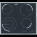 Placa de aquecimento por incandescência rápida, 4 focos hilight (1 duplo), moldura inox, Touch Control, Desconexão automática, Segurança para crianças, Instalação Drop&Go, 57,6 cm