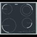 Placa de aquecimento por indução, 2 focos de indução + 2 focos de incandescência rápida, moldura inox, Touch Control, 1 foco Power, temporizador, segurança para crianças, desconexão automática de segurança, instalação Drop&Go, indicadores de calor residual,57,6 cm