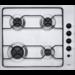 Encimera a gas independiente de 60 cm, 4 fuegos, mandos laterales, autoencendido electrónico con pulsador , termopar, Distribución «X-Line», Inox