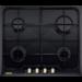 Placa Design Rústico, 4 queimadores a gás, Ignição eléctrica, Segurança termoeléctrica, Comandos frontais, Mesa em esmalte, Equipado para gás natural, Injectores adicionais para gás butano/propano, 59,4 cm