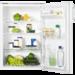 Romslig kjøleskap med ekstra stor oppbevaringsplass i forhold til de ytre dimensjonene. Kjøleskapet er i benkhøyde, og er flott innredet med glasshyller, stor grønnsaksskuff og flaskeholder i døren.