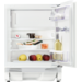 Integrert kjøleskap for montering under benk med innvendig, 4-stjerners fryseboks. Egen sokkel med ventilasjon gjør monteringen enkel.