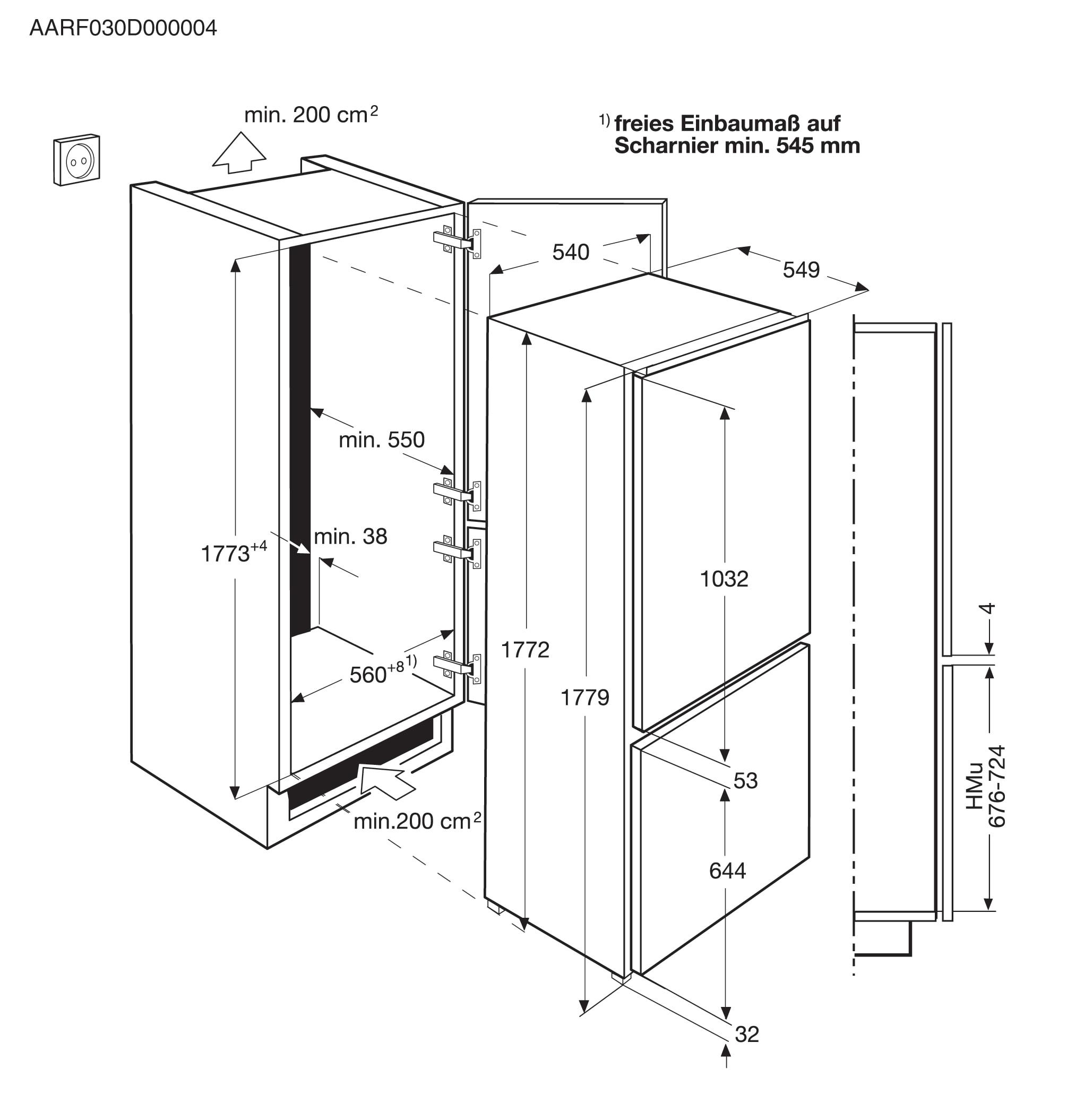 Electrolux - Frigorífico Combi de integración - ENN2811BOW