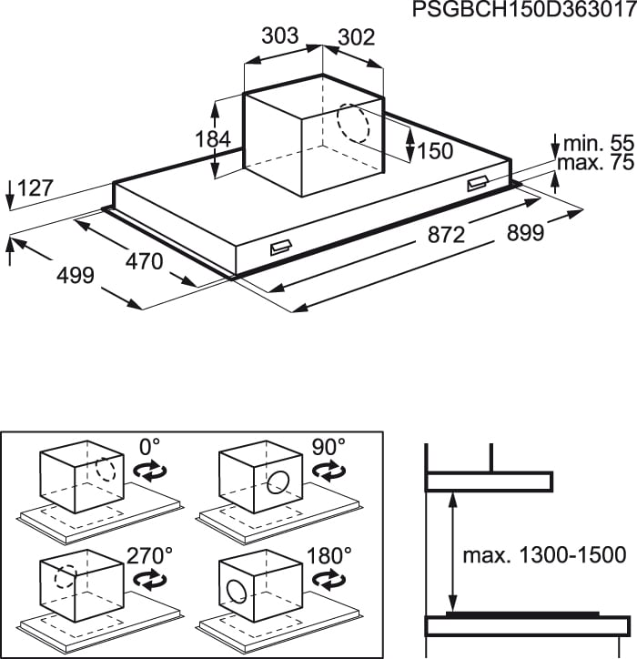 AEG - Exaustor de teto - X792263MG0