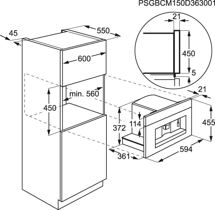 Electrolux - Máquina de café de integrar - EBC54514AX
