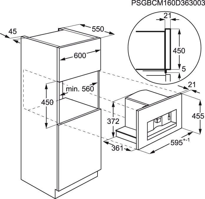 AEG - Máquina de café de integrar - KKK884500M
