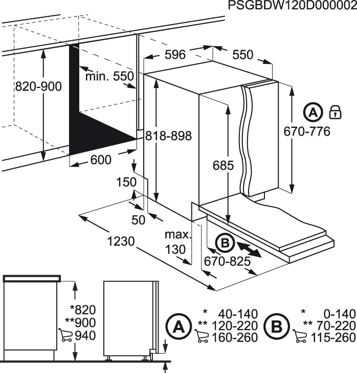 AEG - Máquina de lavar loiça de integrar - FSE63705P
