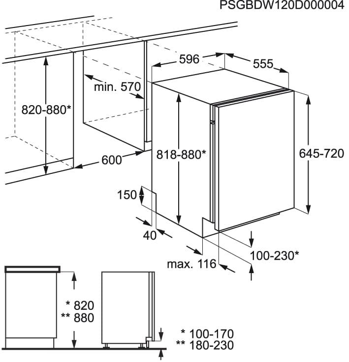 Zanussi - Lavavajillas de integración 60 cm - ZDT26022FA