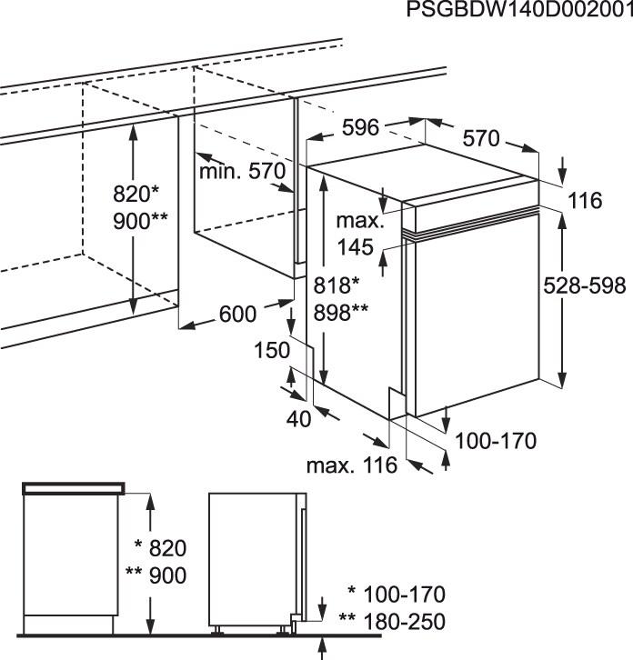 Electrolux - Lavavajillas de integración 60 cm - ESI5510LAX