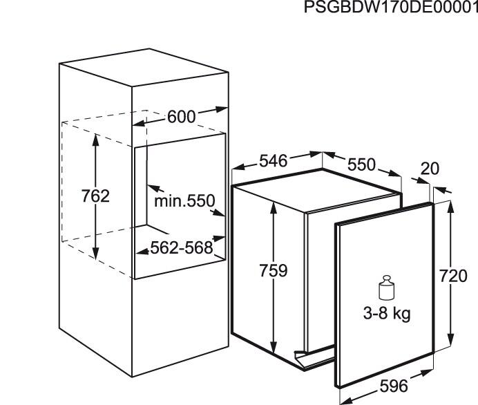 AEG - Máquina de lavar loiça de integrar - FSE73300P