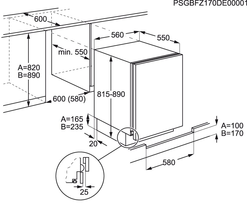 Electrolux - Arca vertical de integrar - EUN1100FOW