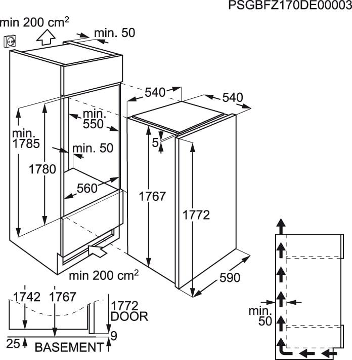 Electrolux - Congelador vertical de integración - EUX2245AOX