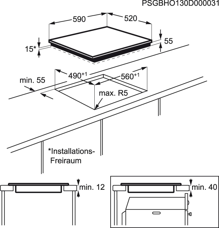 Electrolux - Placa de indução - EHH6332FOK