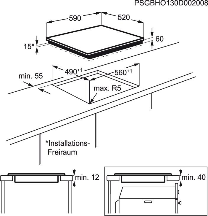 Zanussi - Placa de inducción - ZEL6640XBA