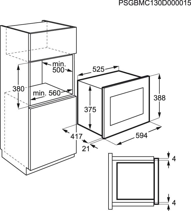 AEG - Micro-ondas de integrar - MCD2665E-M