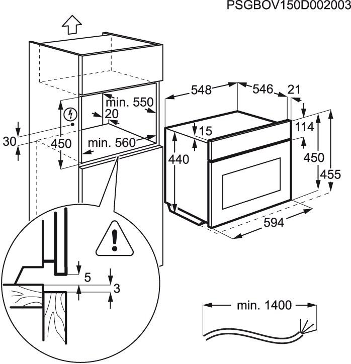 Electrolux - Microondas de encastre - EVY6800AAX