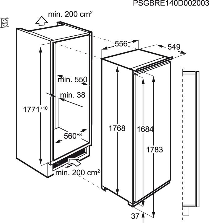 AEG - Arca vertical de integrar - ABE81826NC