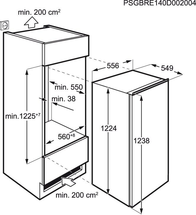 AEG - Arca vertical de integrar - ABE81216NF