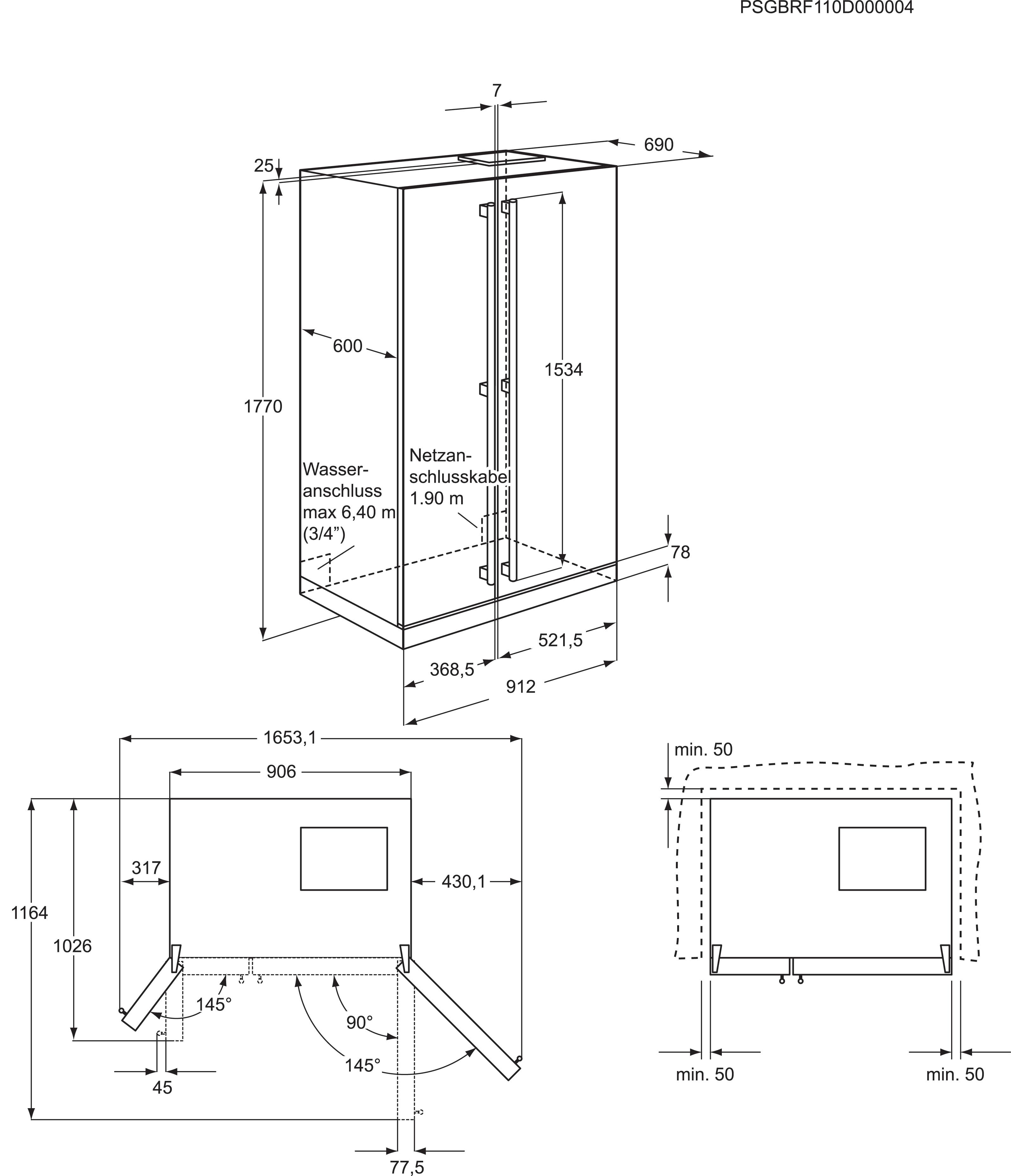 Electrolux - Combinado Side by side - EAL6140WOU