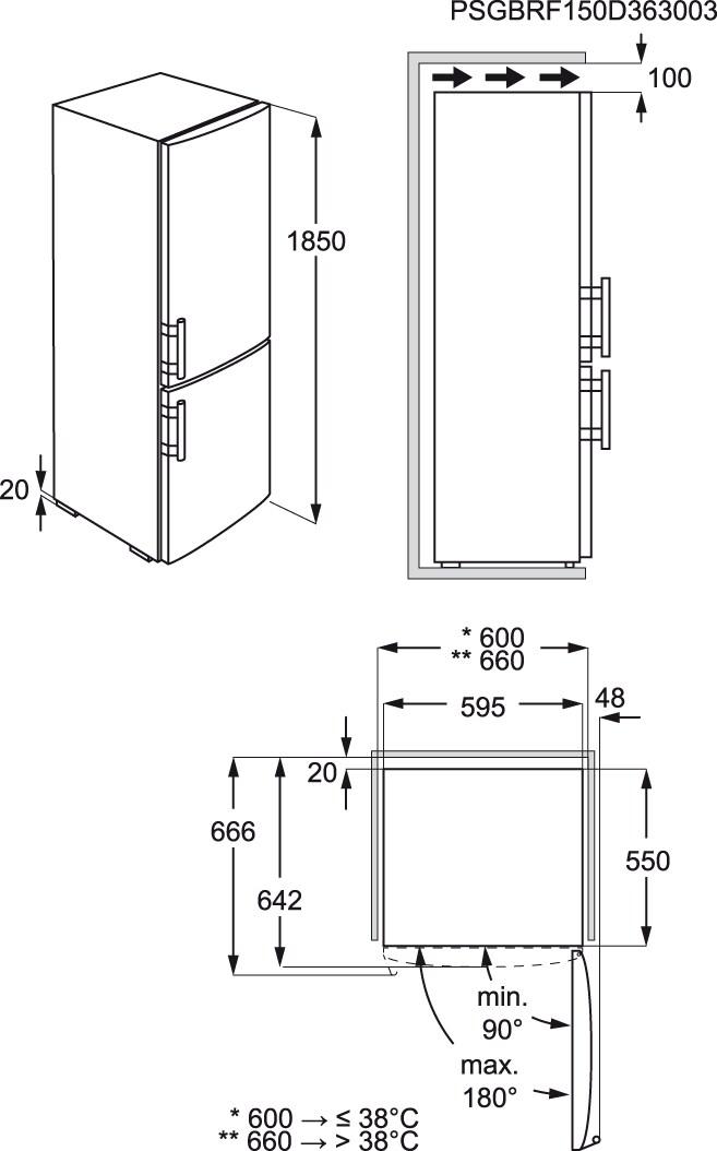 AEG - Combinado de livre instalação - S53620CSX2