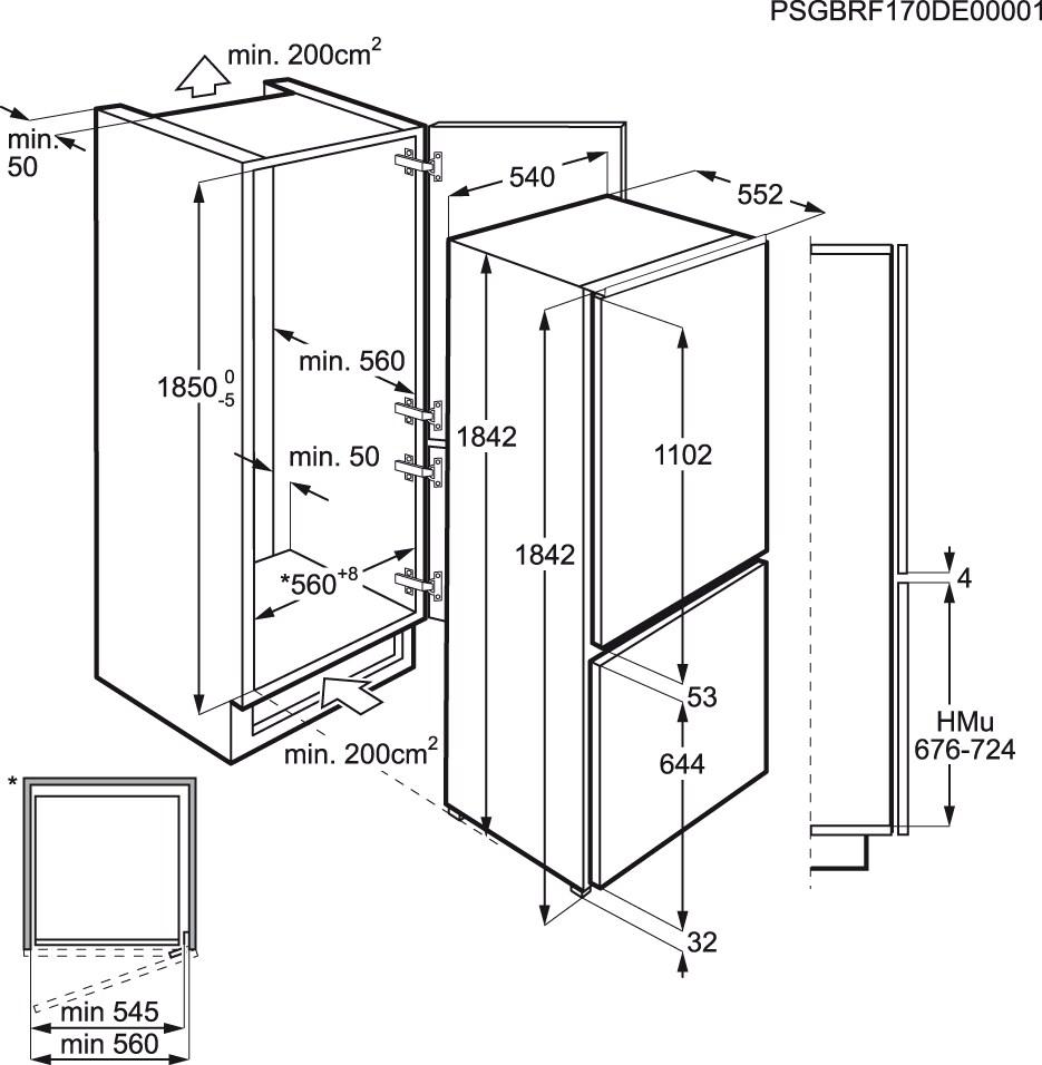 Electrolux - Frigorífico Combi de integración - ENN3154AOW
