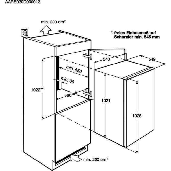 Electrolux - Inbouw koelkast - ERN1901AOW