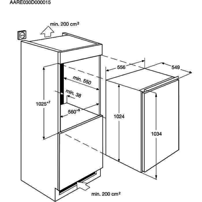 AEG - Einbau Kühlschränke - SKE81021AF