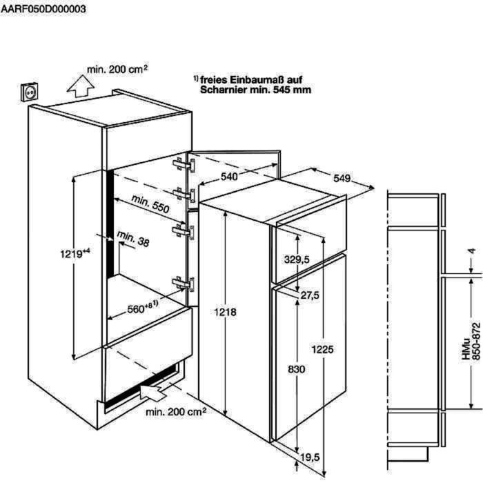 Zanussi - Einbau Kühl/Gefrierkombination - ZBT20420SA