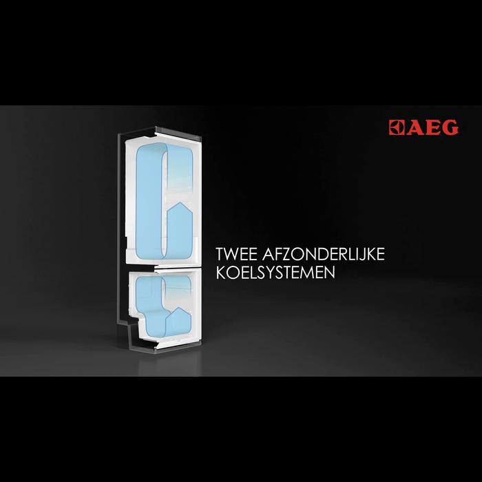AEG - Vrijstaande koel-vriescombinatie - S53620CTXF