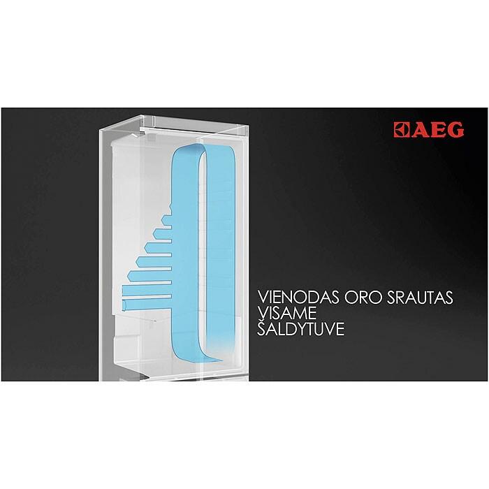 AEG - Laisvai pastatomas šaldytuvas su šaldikliu - Laisvai statoma - S83920CMXF