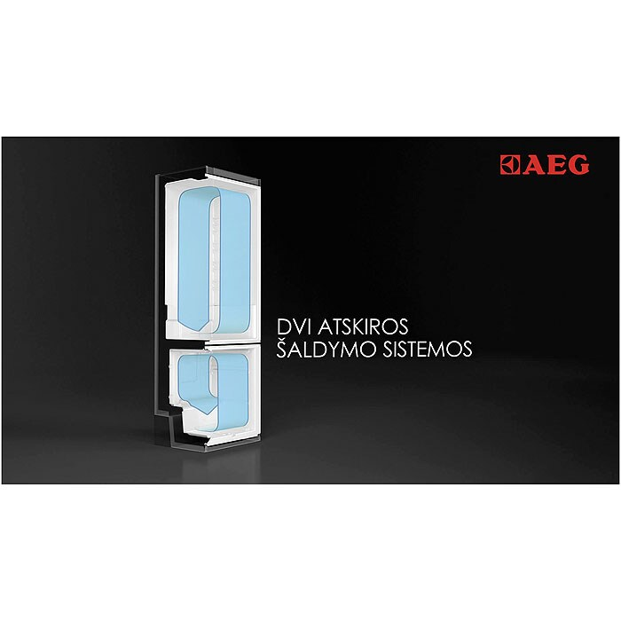 AEG - Laisvai pastatomas šaldytuvas su šaldikliu - Laisvai statoma - S83930CTX2