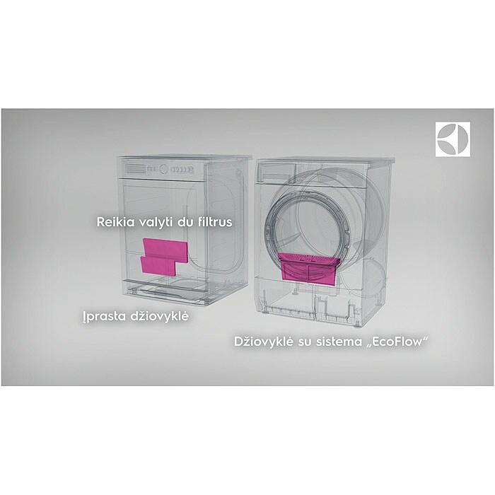 Electrolux - Džiovyklė su šilumos siurbliu - EDH3498RDE