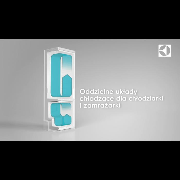 Electrolux - Chłodziarko-zamrażarka do zabudowy - ENN2853COW