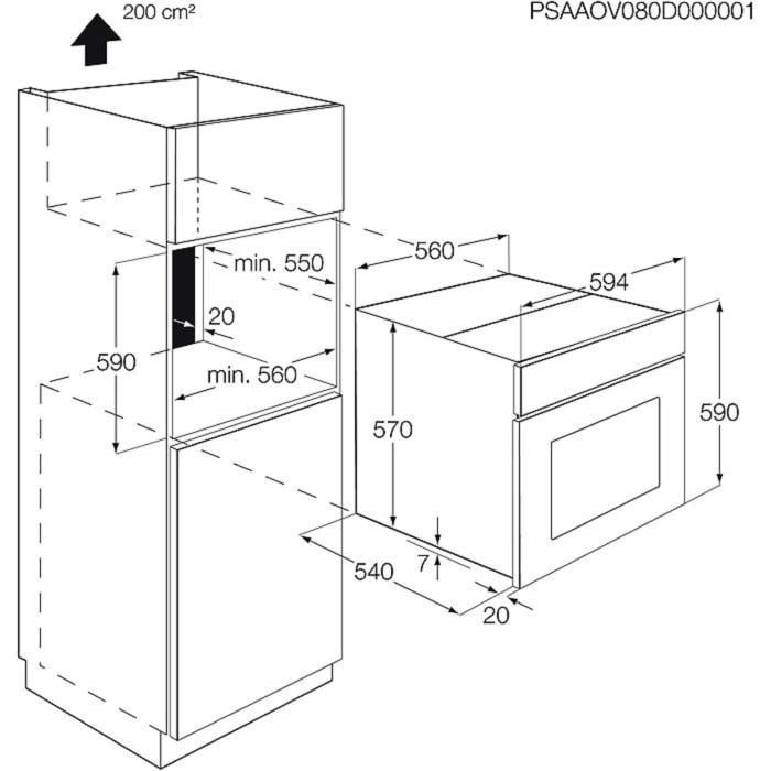 Zanussi - Einbaubacköfen- und herde - ZOB35602XK