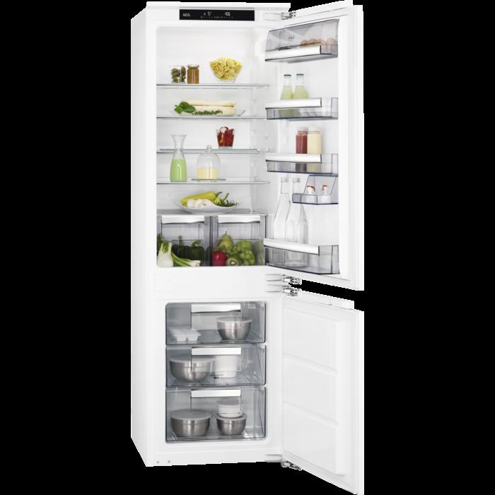 AEG - Montuojamas šaldytuvas su šaldikliu - Montuojama - SCE81811LC