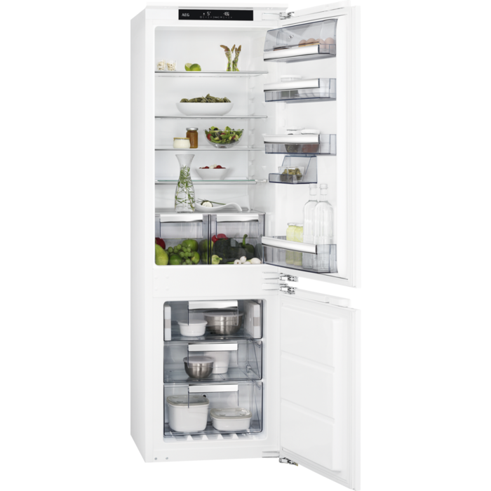 AEG - Integrated fridge freezer - Built-in - SCE81826NC