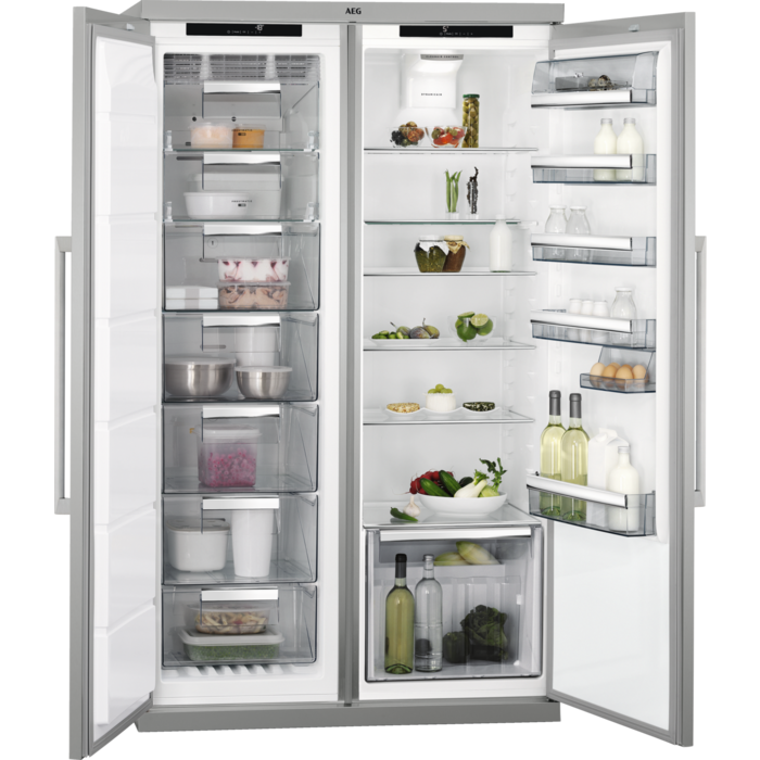 AEG - Freestanding refrigerator - Side-by-side - RKE73211DM