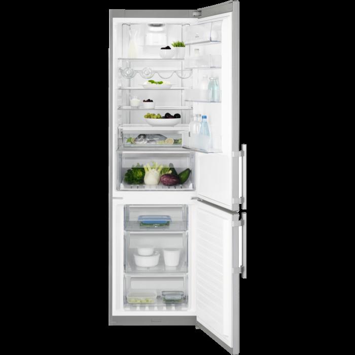 Electrolux - Laisvai pastatomas šaldytuvas su šaldikliu - Laisvai statoma - EN3886MOX