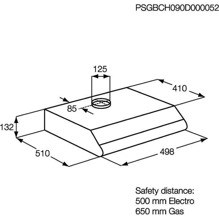 Electrolux - Традиционная вытяжка - EFT531W