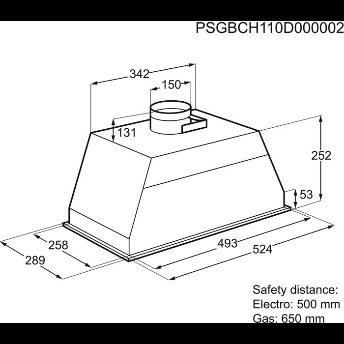 Electrolux - Hotte intégrée - EFG50300X