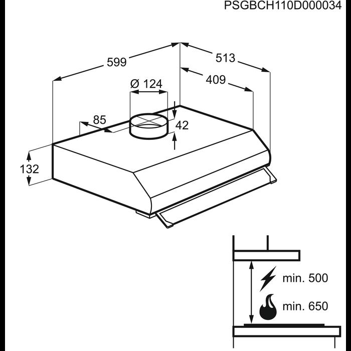Electrolux - Hotte classique - EFT60228OW
